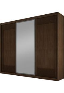 Guarda-Roupa Ravena Com Espelho - 3 Portas - 100% Mdf -Castor