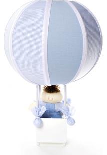 Abajur Balãozinho Potinho De Mel Azul - Kanui