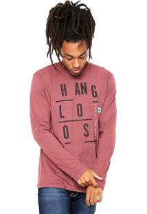 Camiseta Hang Loose Sharping Vinho