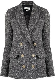 Isabel Marant Étoile Jaqueta De Tweed Com Abotoamento Duplo - Cinza