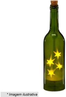 Garrafa Decorativa Com Luz- Verde- 28,5Xã˜7Cm- Mamabruk