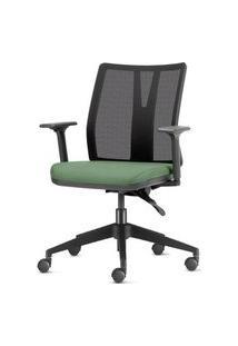 Cadeira Addit Assento Crepe Verde Menta Com Base Piramidal Em Nylon - 54117 Verde