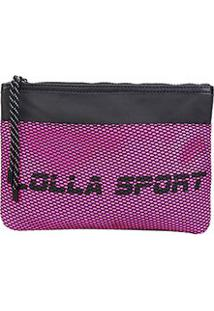 Bolsa Clutch Santa Lolla Nylon Lolla Sport - Feminino-Rosa