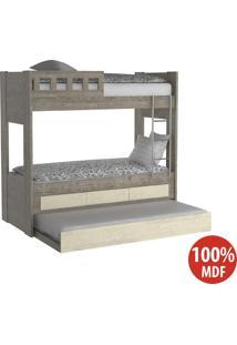 Treliche 3 Gavetas Com Escada 100% Mdf 908910 Demolição/Marfim Areia - Foscarini