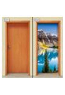 Adesivo Decorativo De Porta - Montanha - Natureza - 965Cnpt