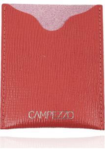 Carteira Slim Campezzo De Couro Vermelha