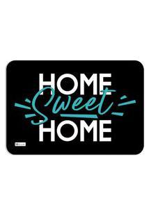 Tapete Decorativo Home Sweet Home Preto Verde 40X60Cm