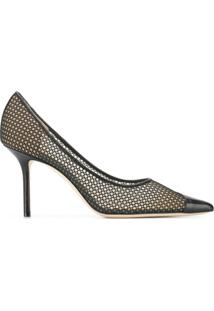 Jimmy Choo Sapato Love Com Salto 85Mm - Preto