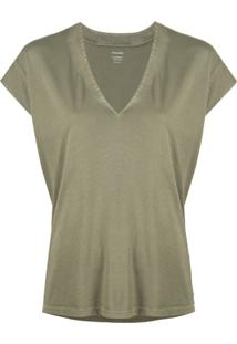 Frame V-Neck Blouse - Verde