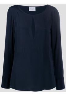Dondup Blusa Com Decote Gota - Azul