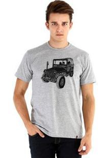 Camiseta Ouroboros Manga Curta Off Road - Masculino-Cinza