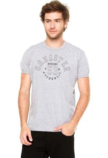 Camiseta Gangster Recortes Cinza