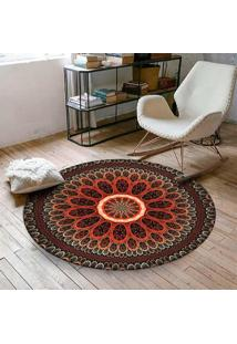 Tapete Love Decor Redondo Wevans Mandala Red 84Cm - Vermelho - Dafiti