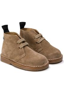 Douuod Kids Lace-Up Ankle Boots - Neutro