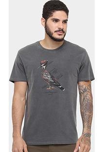 Camiseta Reserva Tinturada Pica-Pau - Masculino-Preto