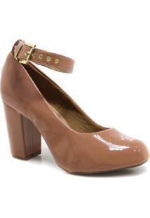 Sapato Zariff Shoes Scarpin Verniz Fivela Nude
