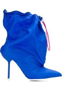 Unravel Project Ankle Boot Com Detalhe De Amarração - Azul