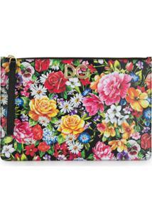 Dolce & Gabbana Clutch Floral - Preto