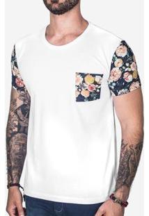 Camiseta Hermoso Compadre Manga Leafs Masculina - Masculino-Branco