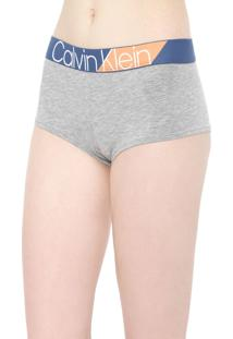 Calcinha Calvin Klein Underwear Caleçon Boyshort Cinza