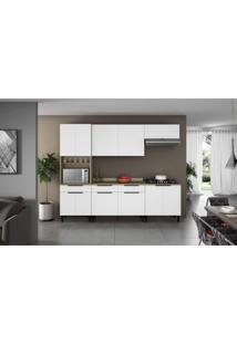 Cozinha Completa 5 Peças 11 Portas, Paneleiro E Tampo Para Cooktop Itamaxi Itatiaia Branco/Amadeirado
