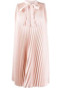Redvalentino Vestido Com Pregas - Rosa