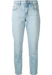 Nobody Denim Calça Jeans Slim Cropped Cintura Média - Azul