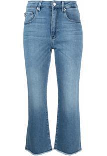 Love Moschino Calça Jeans Pantacourt Cintura Média - Azul