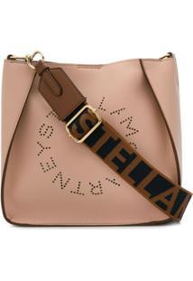 Stella Mccartney Bolsa Tiracolo Com Logo Perfurado - Rosa
