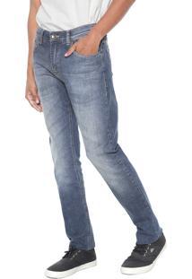 Calça Jeans Quiksilver Slim Avalon Dust Azul