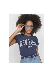 Camiseta Aeropostale New York Azul-Marinho