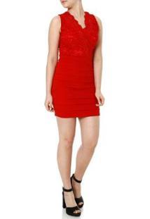 Vestido Eagle Rock Feminino - Feminino-Vermelho