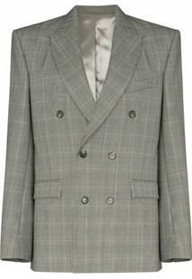Wardrobe.Nyc Casaco Xadrez Prince Of Wales Com Abotoamento Duplo - Cinza