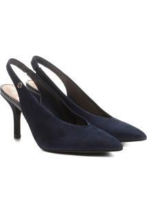 Scarpin Dumond Chanel Salto Alto - Feminino-Azul