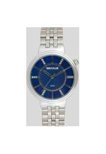 Relógio Analógico Seculus Feminino - 20625L0Svns3 Prateado