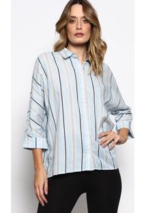 Camisa Listrada- Azul Claro & Azul Escuro- Colccicolcci