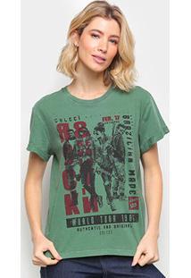 Camiseta Colcci Rock Revolution Feminina - Feminino-Verde Escuro