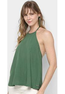 Blusa Colcci Frente Única Feminina - Feminino-Verde Claro