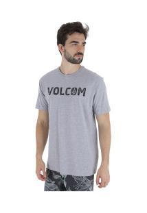 Camiseta Volcom Bold - Masculina - Cinza