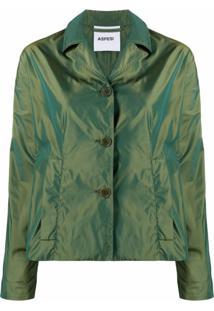 Aspesi Jaqueta Com Abotoamento - Verde