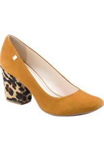 Sapato Scarpin Loucos E Santos - Feminino-Marrom
