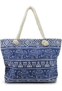 Bolsa Jacki Design De Praia - Unissex-Azul Escuro