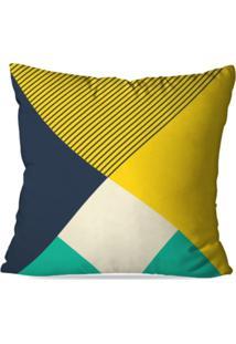 Capa De Almofada Avulsa Decorativa Geométrico 45X45Cm