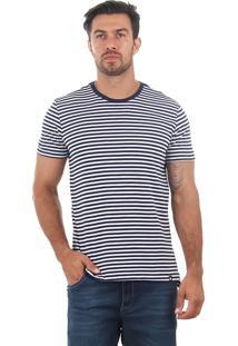 Camiseta Listrada Masculina Svk - Marinho