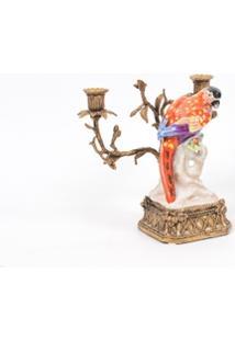 Castiçal Decorativo De Porcelana Le Petit Perle Ii - Unissex