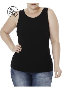 Blusa Regata Plus Size Autentique Preto
