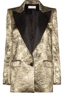 Faith Connexion Brocade Embossed Blazer Jacket - Metálico