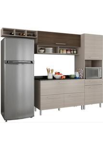 Cozinha Compacta Com Balcão Anne Rovere/Amêndoa - Poliman