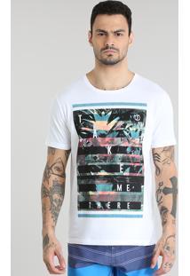 "Camiseta ""Take Me There"" Branca"