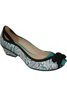 Sapato Tanara - Feminino-Branco+Preto